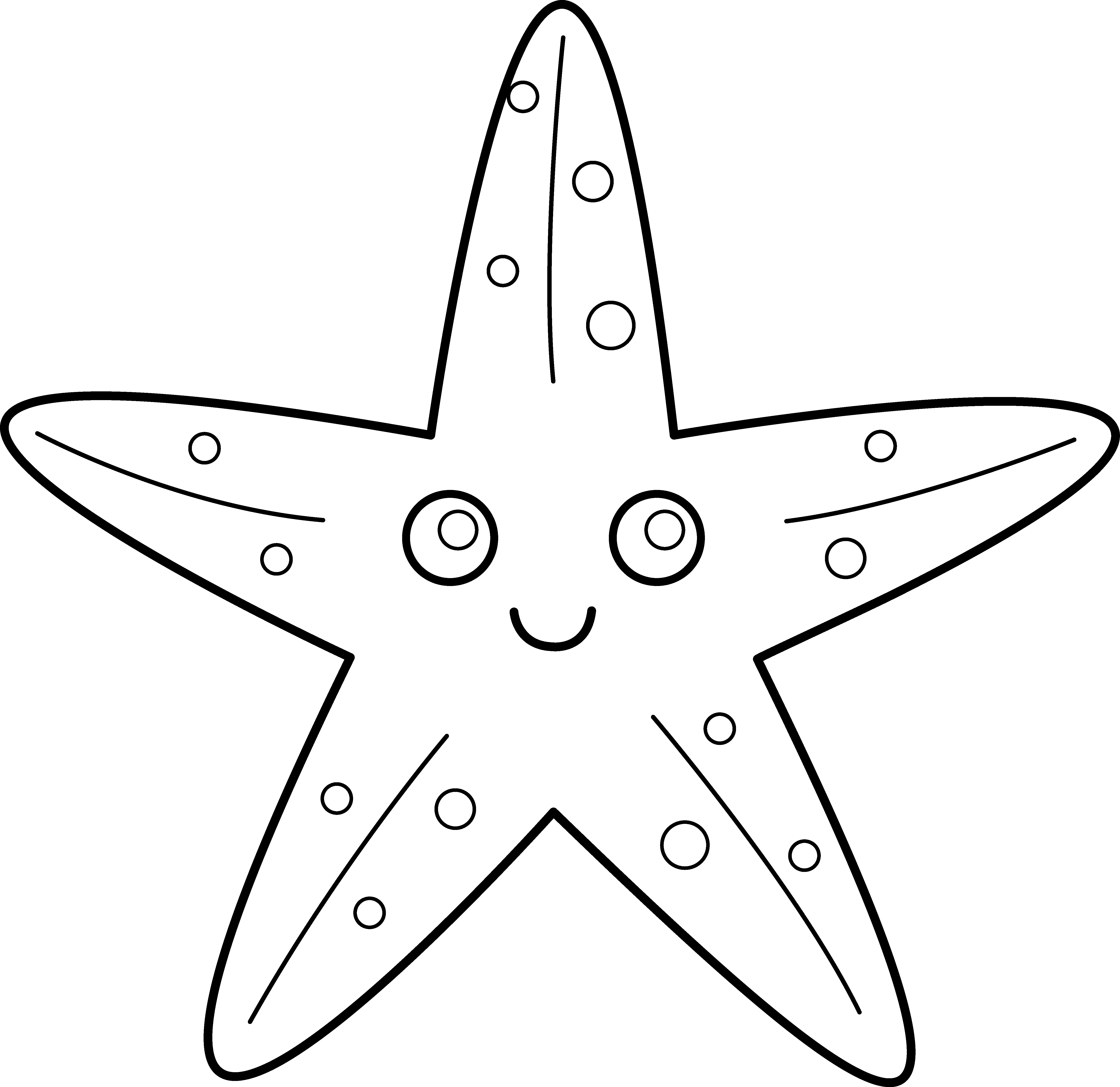clip art library library Rainbow fish clipart black and white. Starfish for applique daycare
