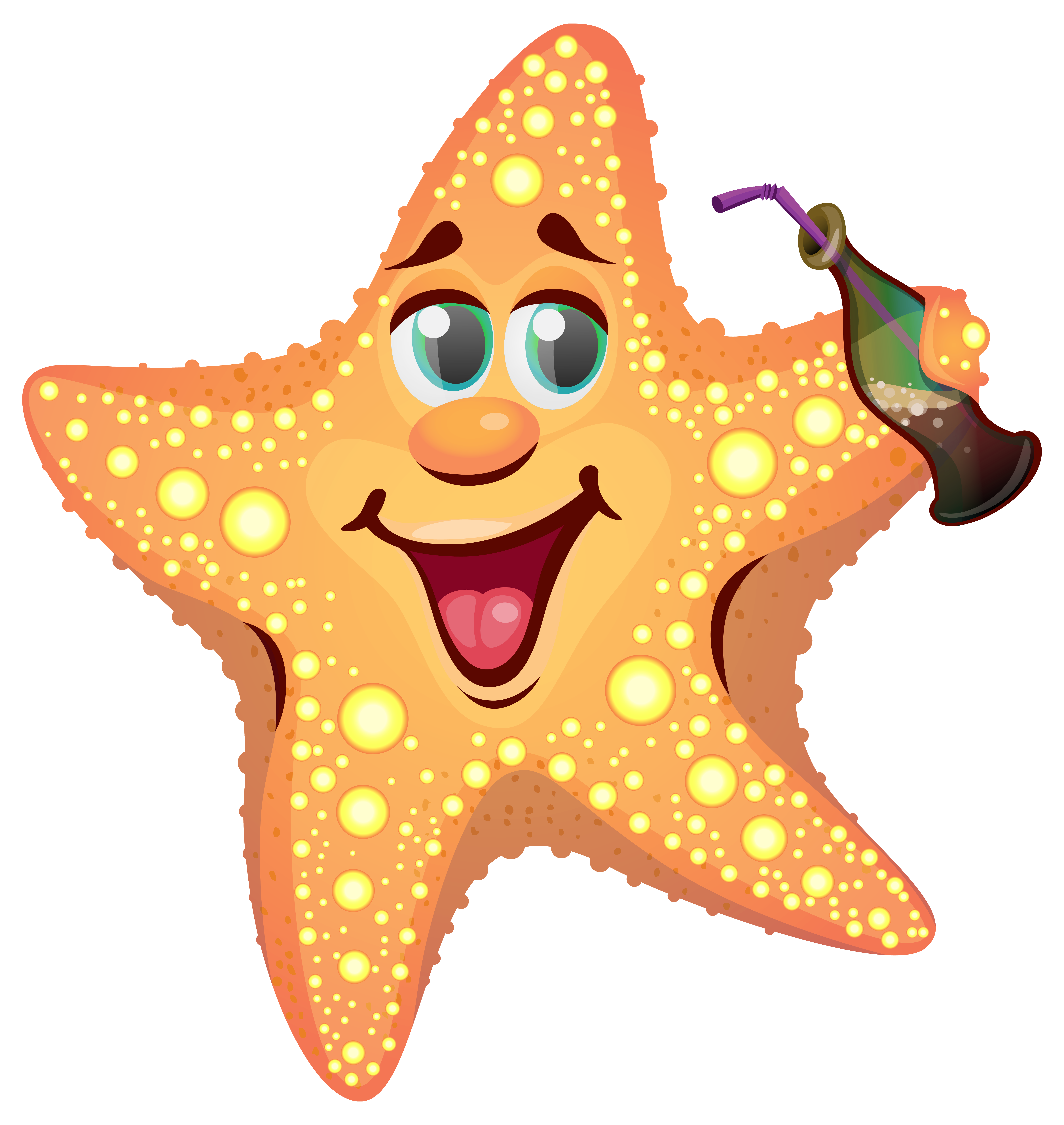 vector stock Cartoon Summer Starfish PNG Clipart Image