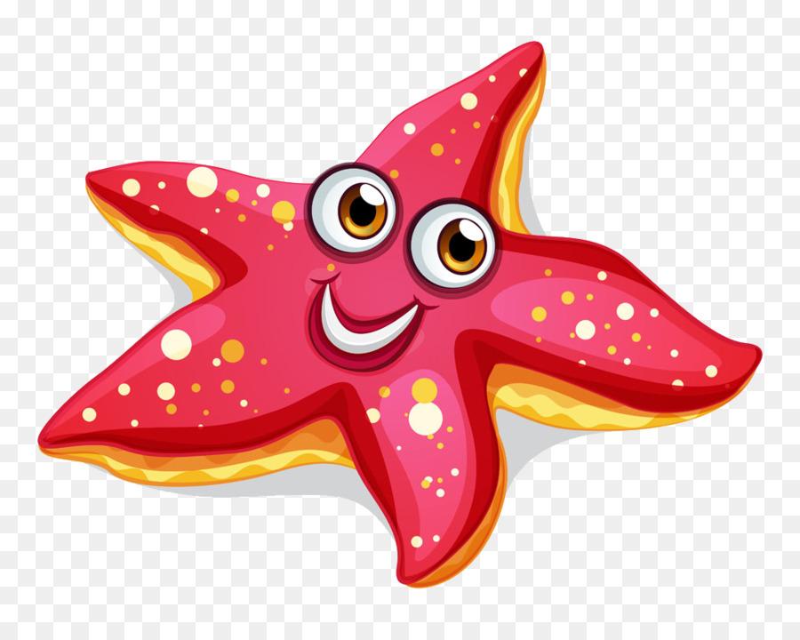 clip art freeuse library Starfish transparent aquatic animal. Cartoon star .