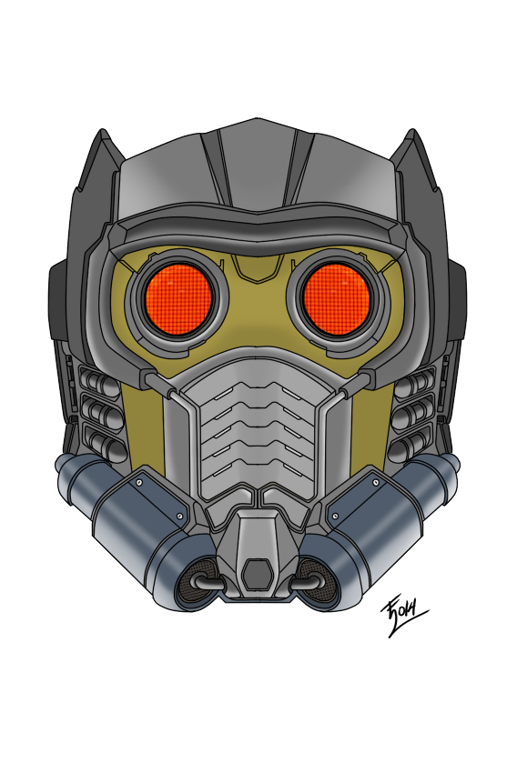 clip royalty free stock STAR LORD MASK by EVANGELION