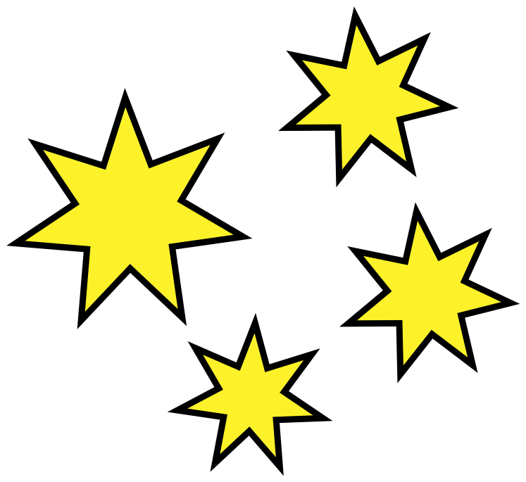 vector black and white library Stars and moon clipart. Star cluster free download.