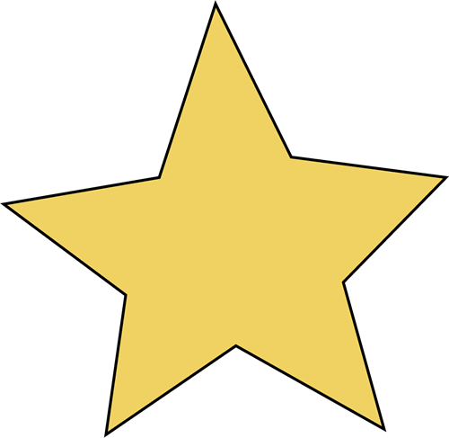 freeuse Transparent Star Clipart