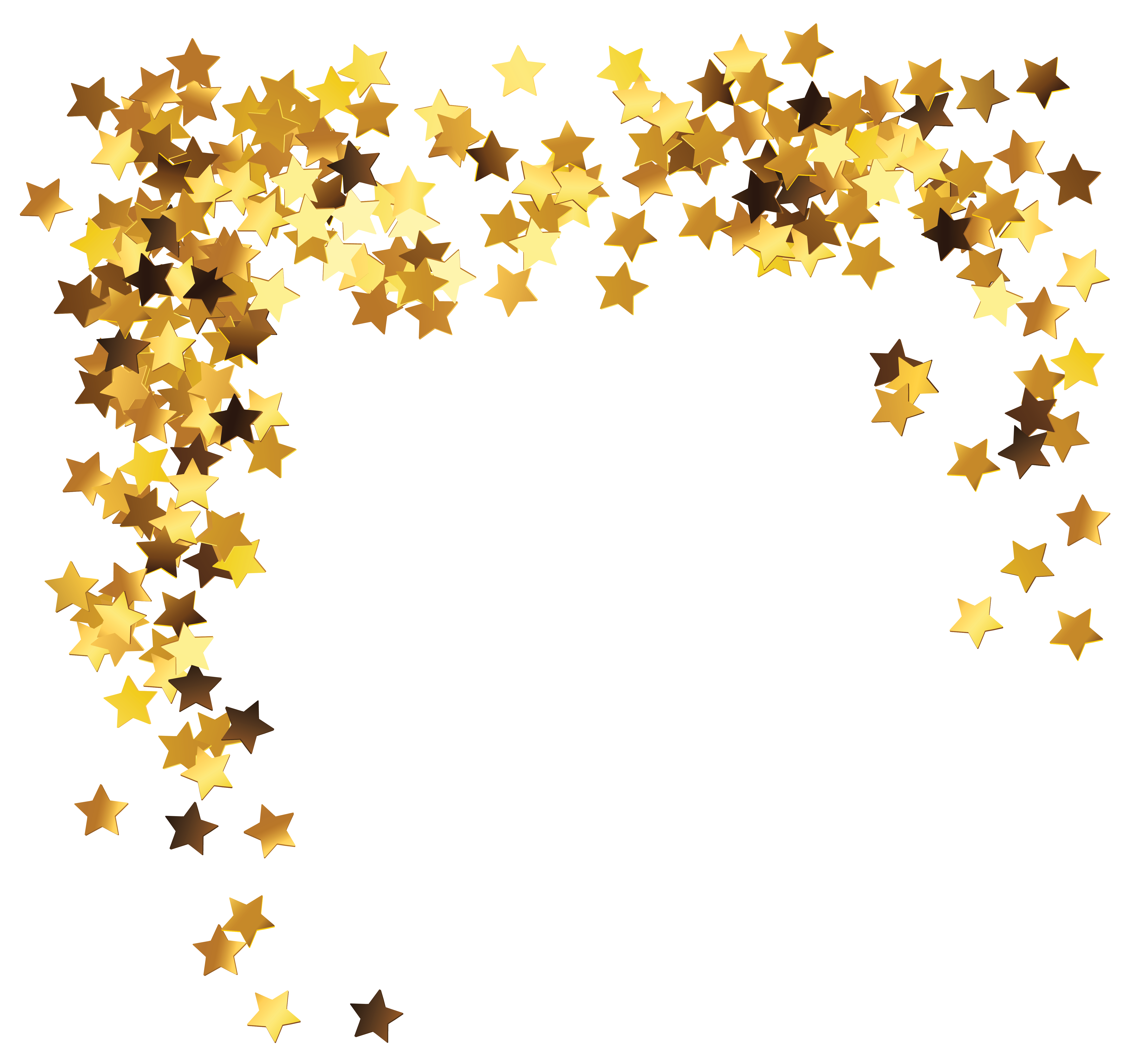 vector library library Gold Stars Decoration PNG Clipart Picture