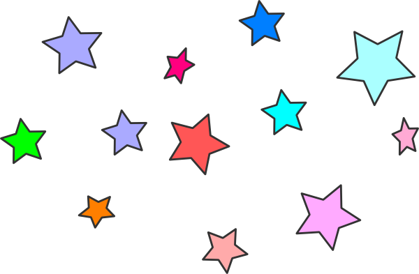 image black and white Star Cluster Clip Art at Clker