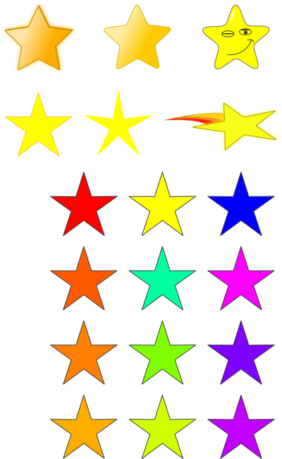 jpg library download Stars clip art primitives free clipart images