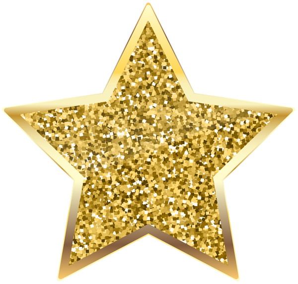 image royalty free library Golden Deco Star Transparent PNG Clip Art
