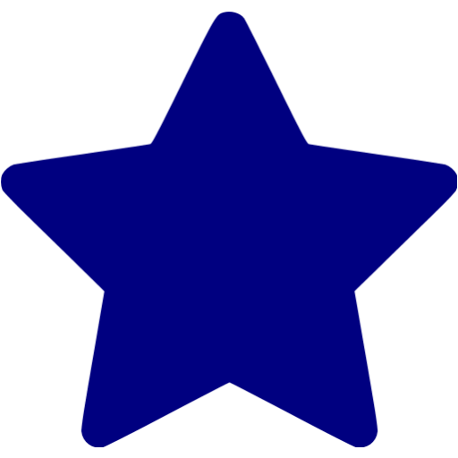 clipart black and white library Blue icon free icons. Start clipart navy star