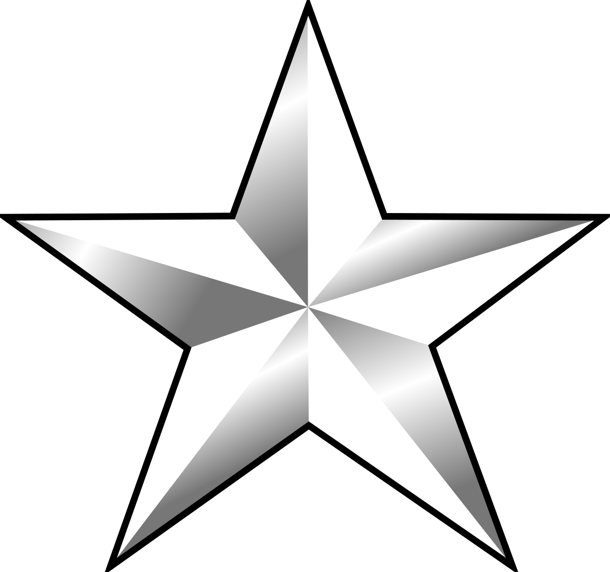 clipart black and white stock Army star clipart. One rank wikipedia .