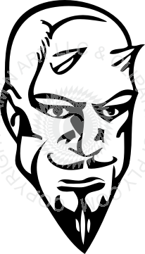royalty free stock Start clipart pointy. Devils head with beard