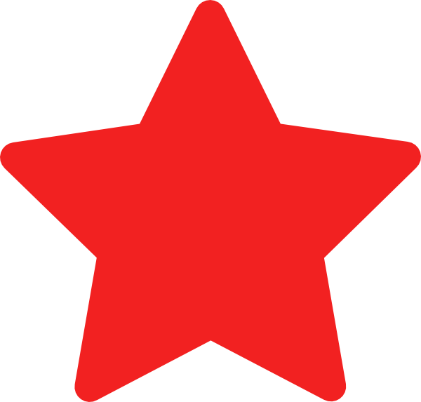 vector royalty free library Red Star Free Clipart