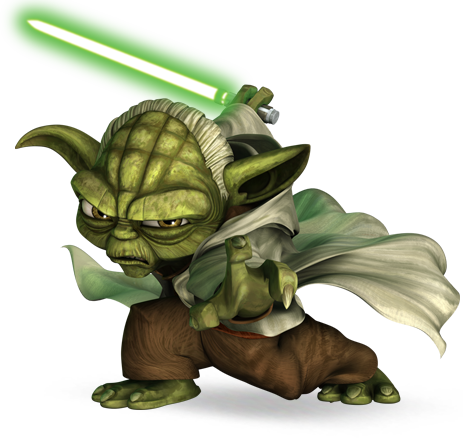 jpg black and white library yoda clipart star wars #85810897