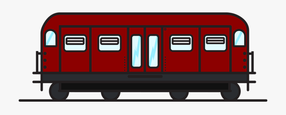 free library Station clipart railcar. Red train freight subway