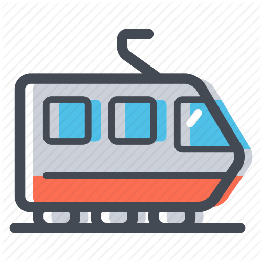 picture transparent download Transportation icons colored by. Station clipart railcar