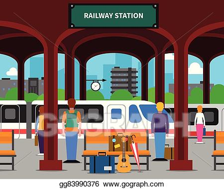svg library Station clipart train schedule. Clip art vector railway