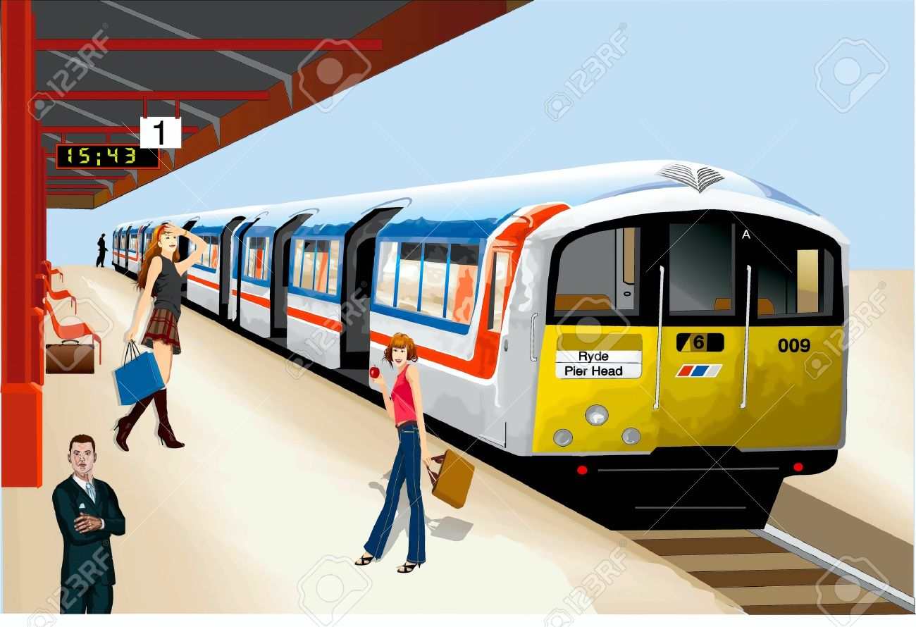 vector free stock Station clipart train schedule. Railway