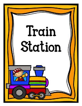 png royalty free Dramatic play freebie color. Station clipart train schedule