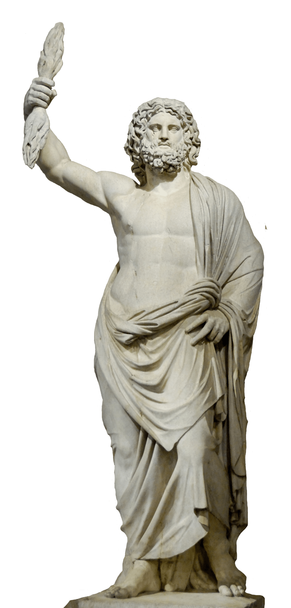 clip royalty free download Zeus png stickpng. Statue transparent