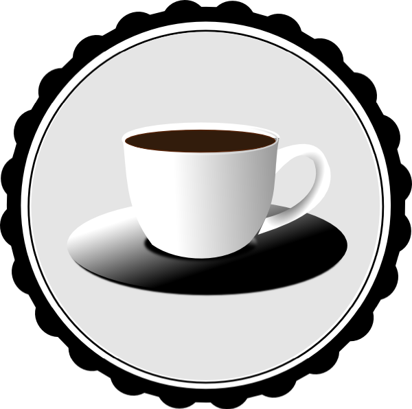 vector black and white download Tea Cup Clipart