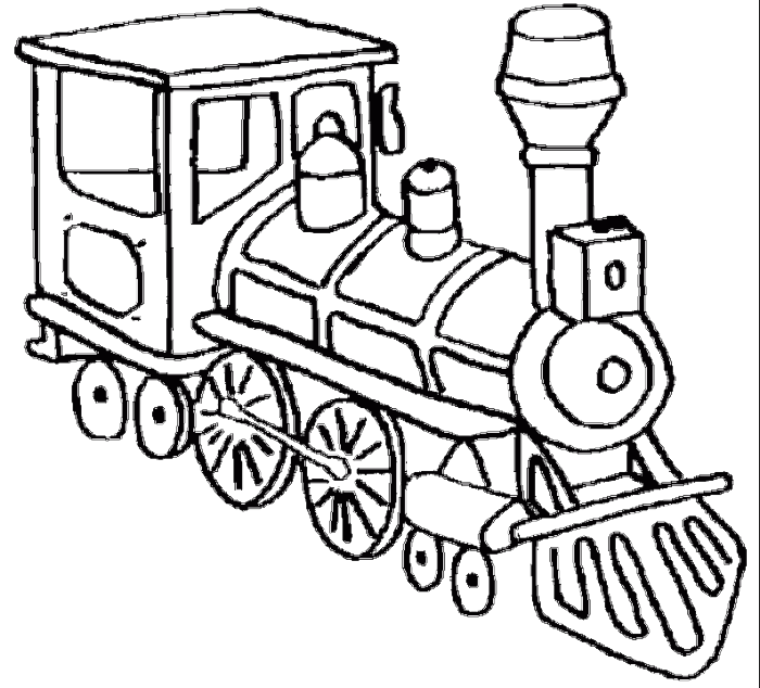image free A Head Of A Very Old Train Coloring Pages