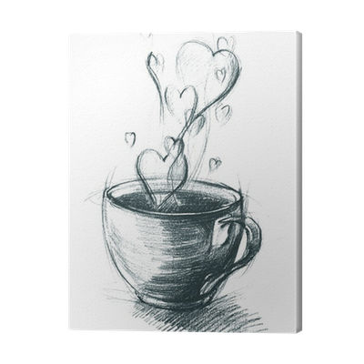 svg transparent stock Cup of Tea with Steam hearts
