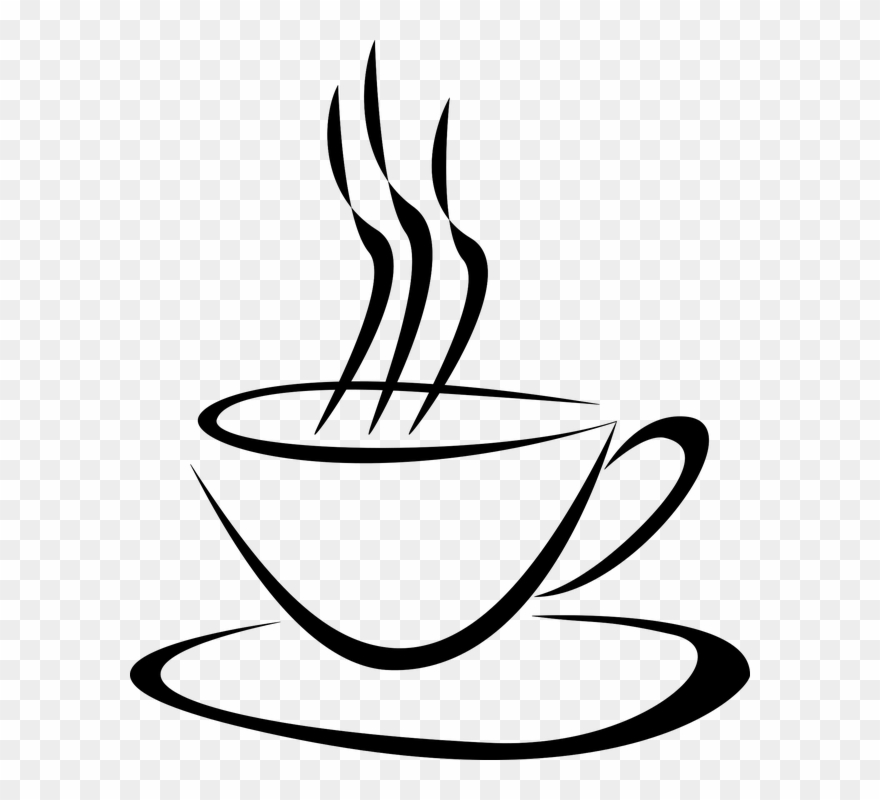 jpg library Steaming coffee mug clipart. Food cup with steam