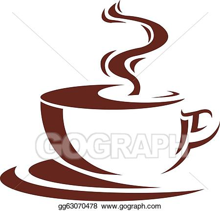 jpg transparent library Vector illustration gg . Steaming cup of coffee clipart