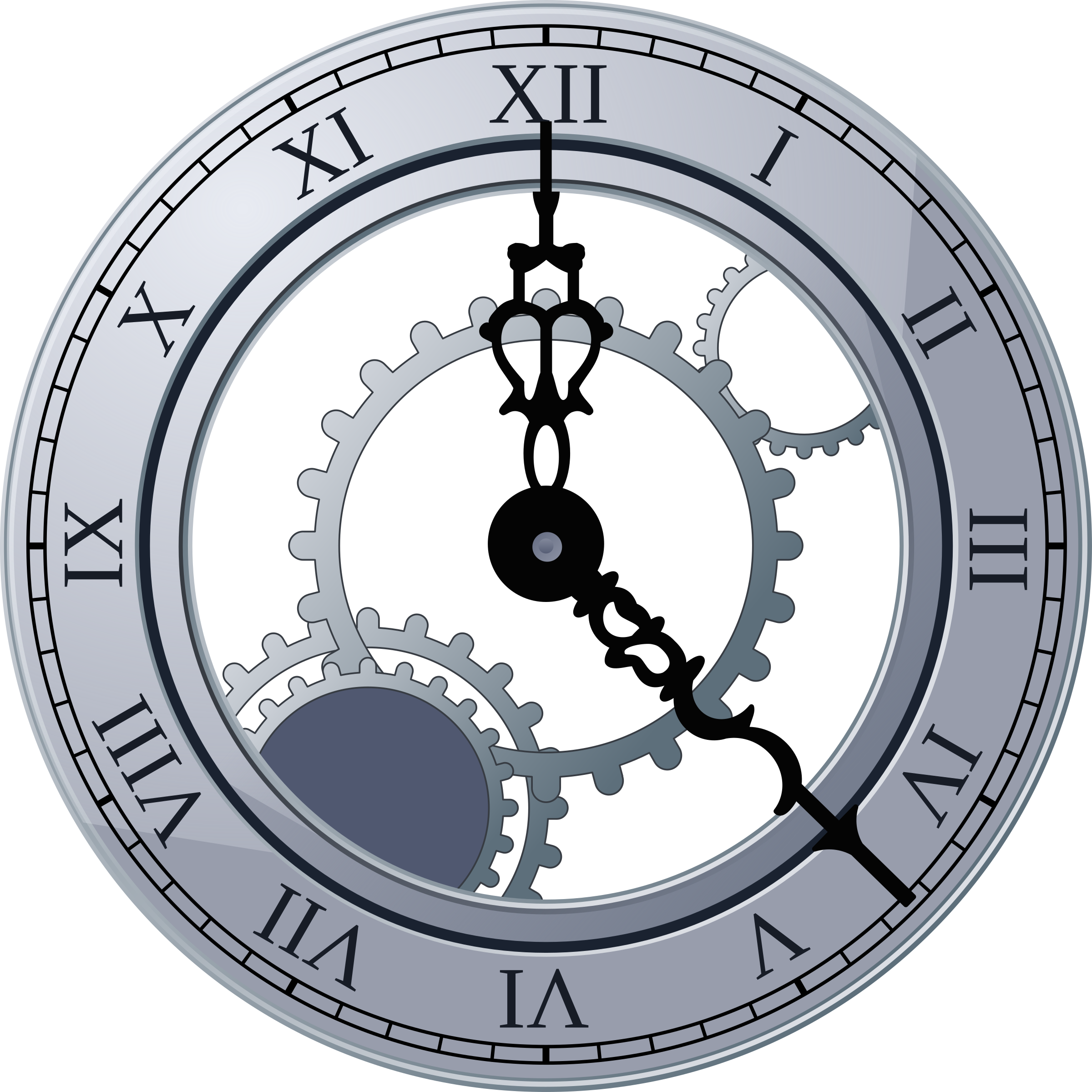 clipart free stock Roman Clock by