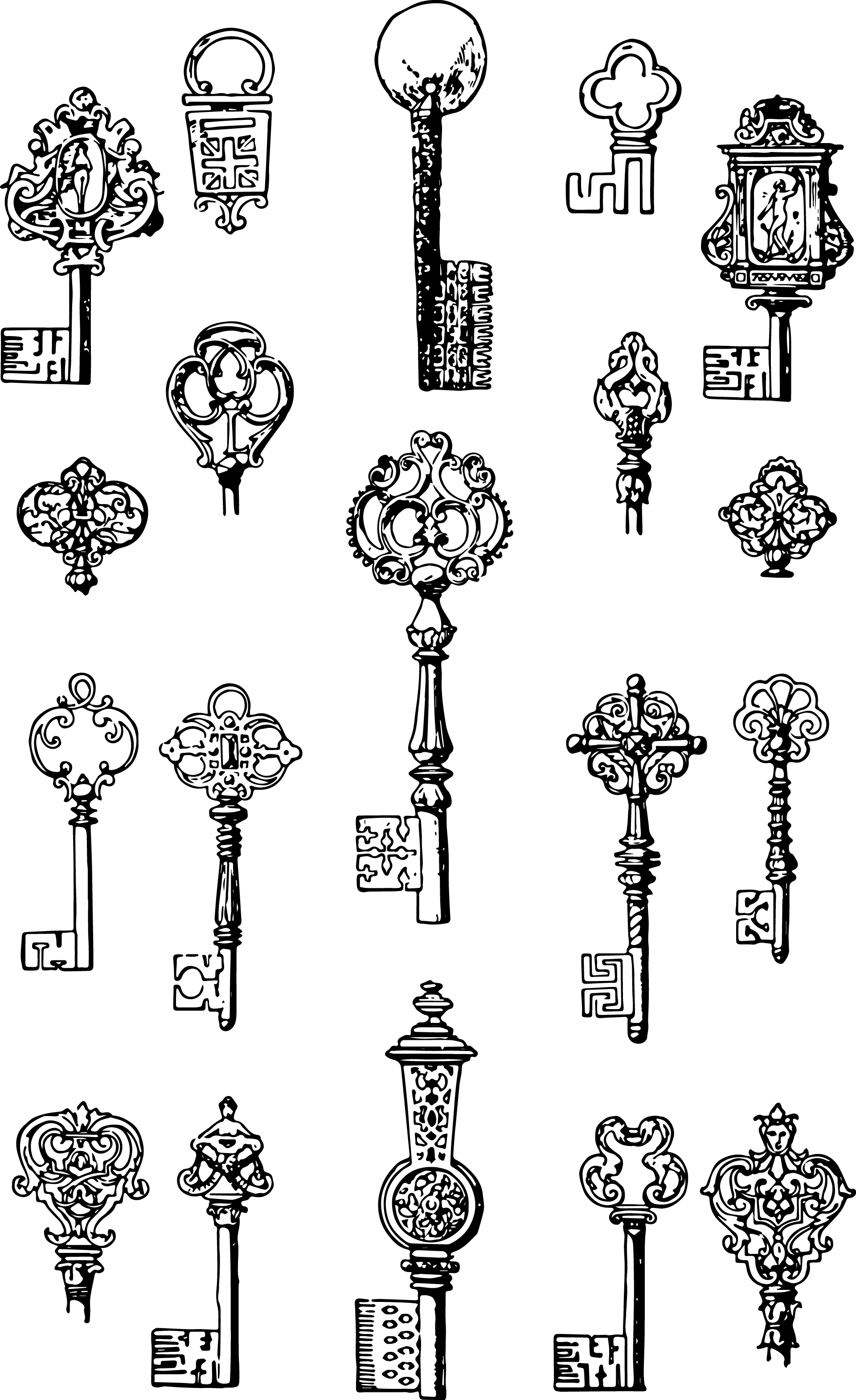 picture freeuse stock Drawing ruffles vector. Vgosn vintage keys clip
