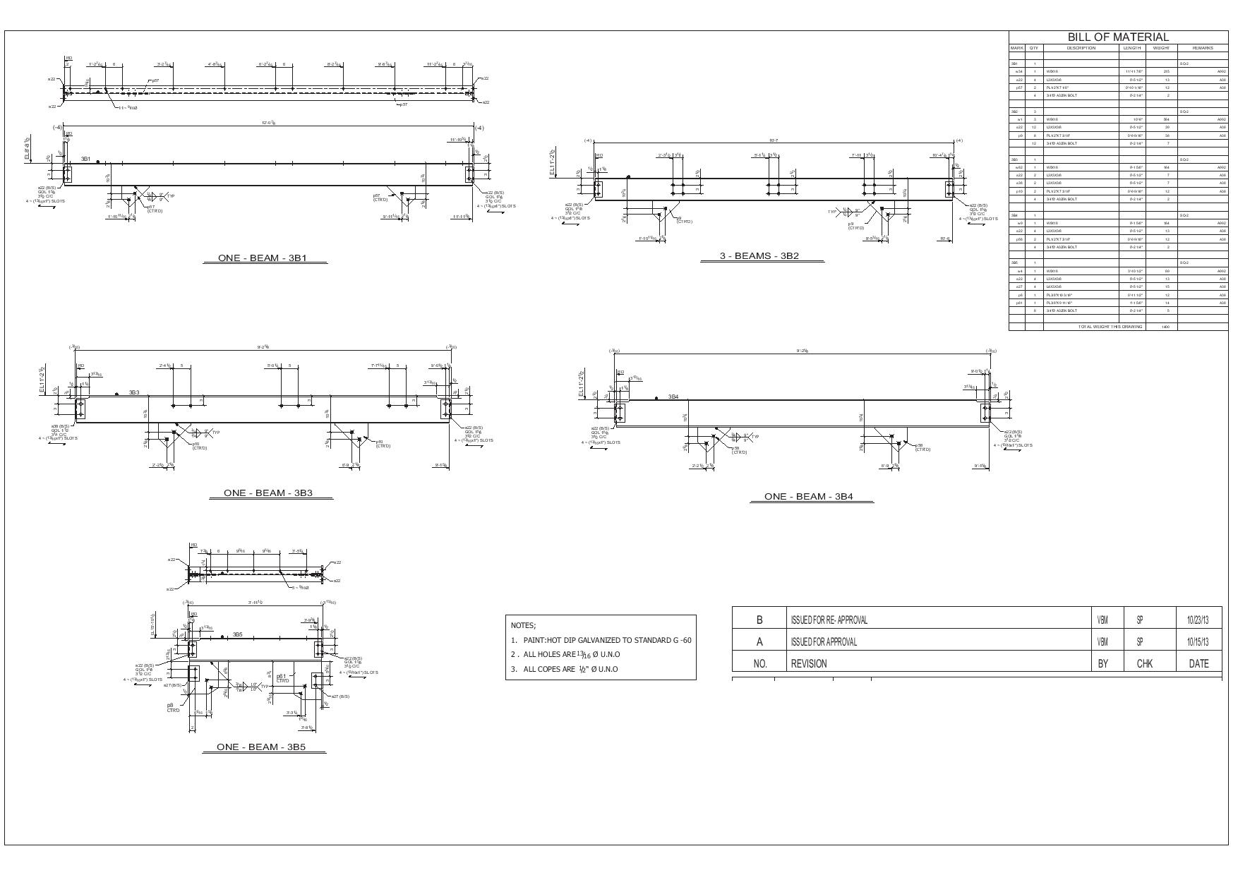 vector free Sample Drawing for Construction and Structural Steel Industry