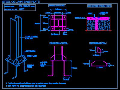clip freeuse Steel column base plate