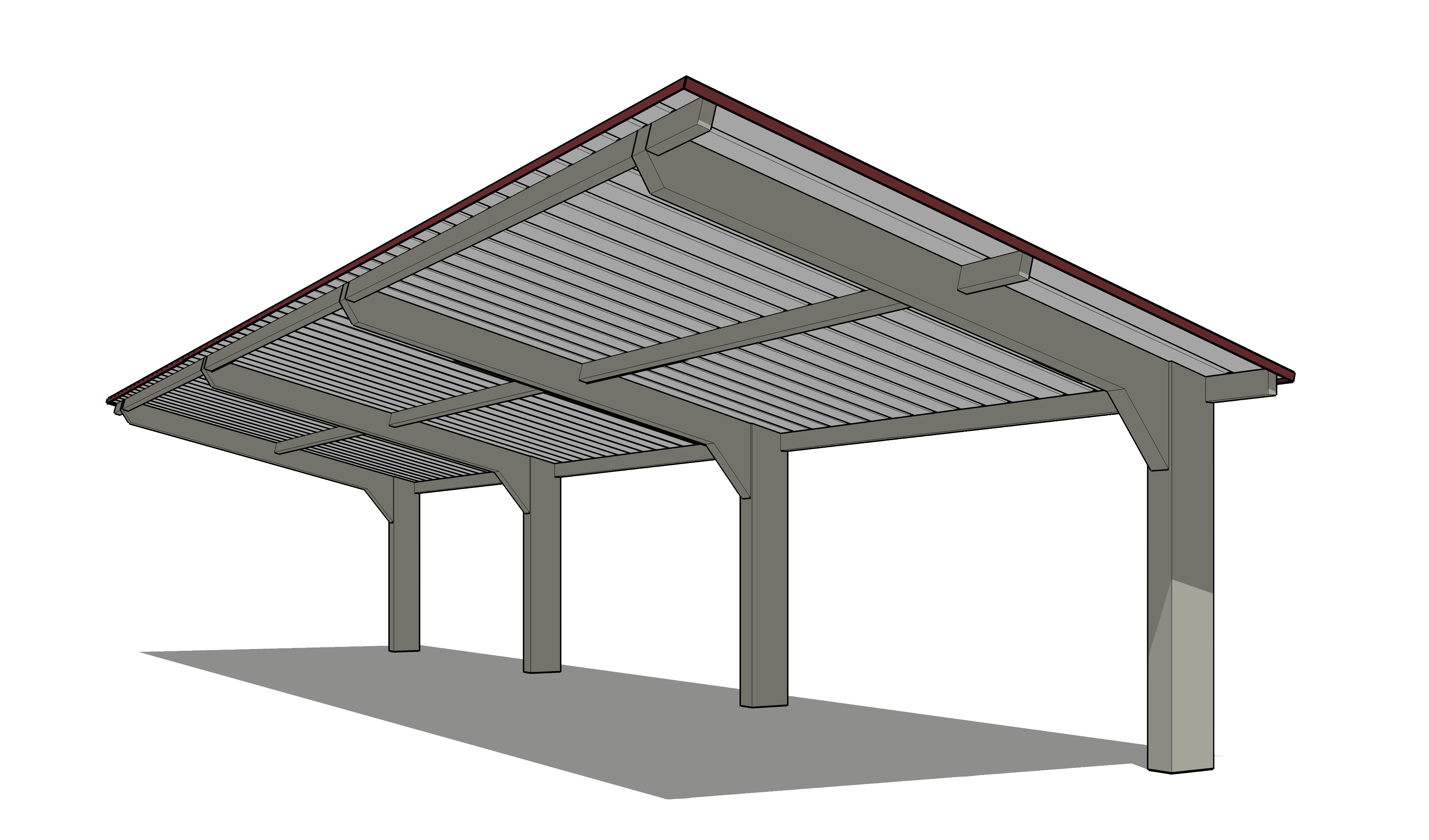 clip black and white library Roof Cantilever