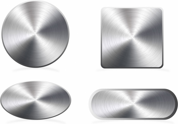 image Aluminium buttons free in. Vector button metal