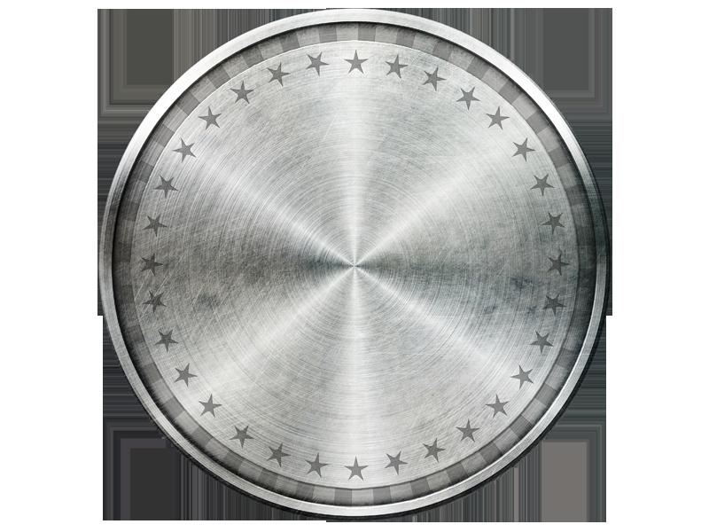 banner download Iron Circle Shield PNG