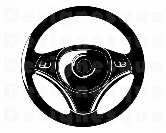 clip free stock Svg car files for. Steering wheel clipart