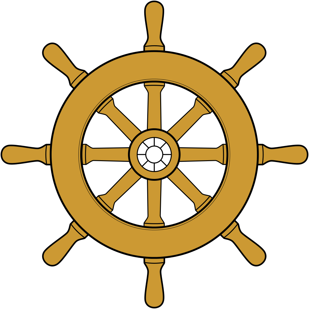clip black and white library Steering silhouette at getdrawings. Ships wheel clipart.