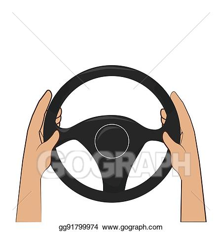 clip art library stock Vector art colorful with. Hands on steering wheel clipart.