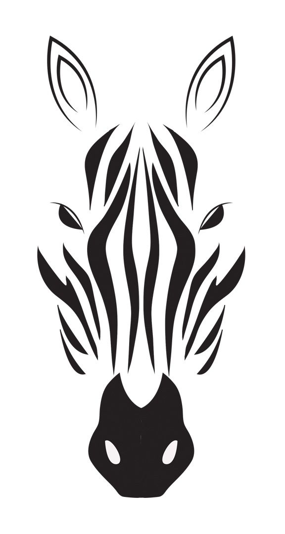 png black and white library Drawing silhouette black and white. Zebra in indulgy tats