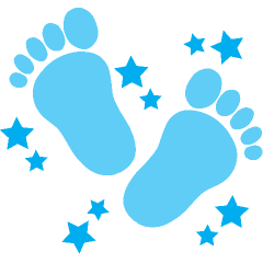 vector stock Steps clipart baby foot. Clip art library
