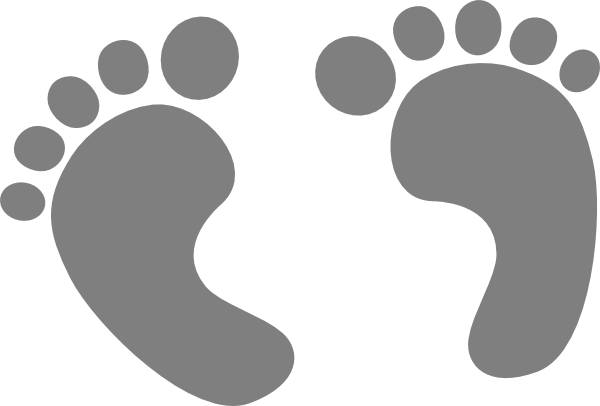 banner black and white download Steps clipart baby foot. Feet clip art at