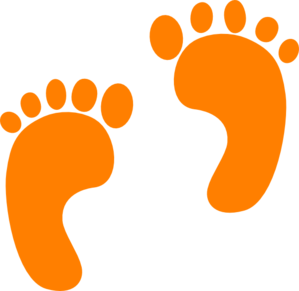 png free library Steps clipart baby foot. Footprints yellow free on