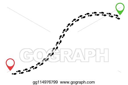banner freeuse download Steps clipart foot trail. Clip art vector footsteps
