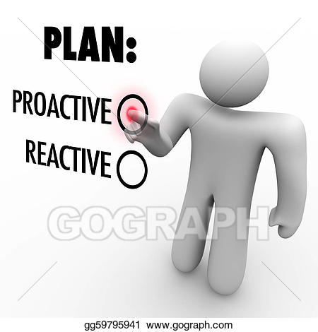 jpg library Steps clipart proactive. Plan or reactive strategy.