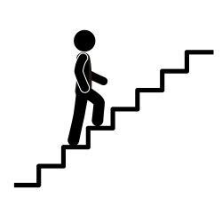 svg black and white library Steps clipart take the stair. Collection of free ascent