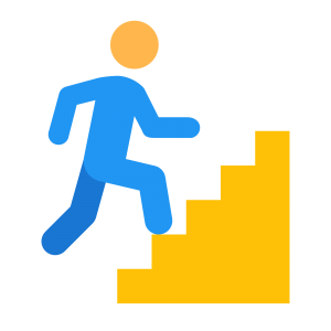 banner transparent library Climbing problems permutations and. Steps clipart take the stair