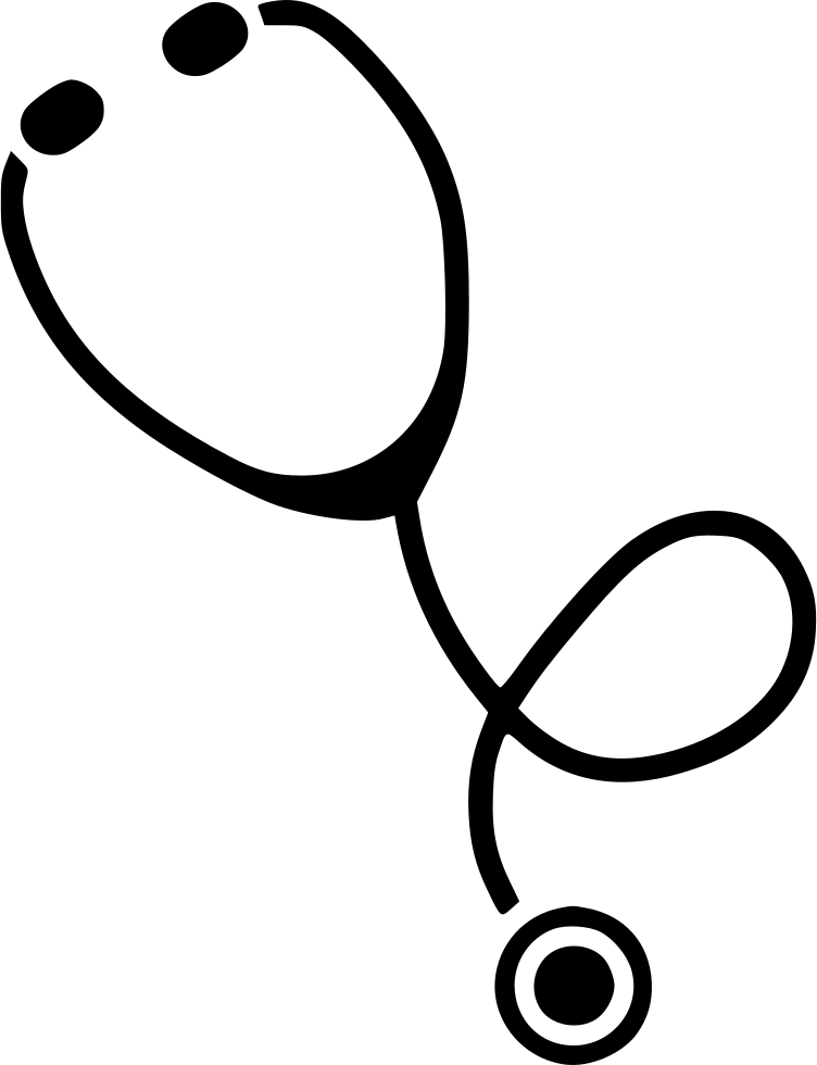 svg black and white stock Stethoscope Drawing at GetDrawings