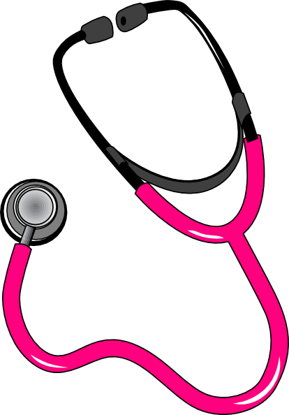 graphic library Pink Black Stethoscope Clip Art at Clker