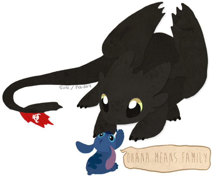 clip art black and white Toothless and Stitch by naida
