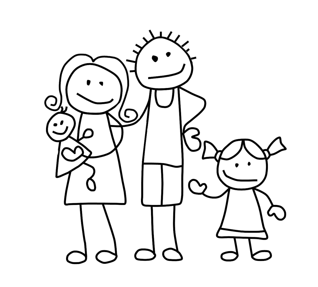 picture library download Stick family clipart black and white.  collection of drawing