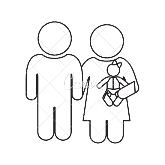 jpg free Figure drawing at getdrawings. Stick family clipart black and white