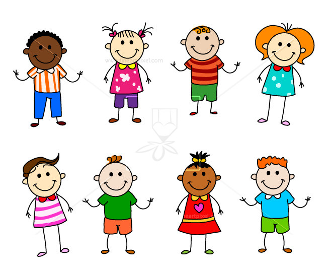 clipart royalty free Stick figure kids clipart. Character free vectors illustrations
